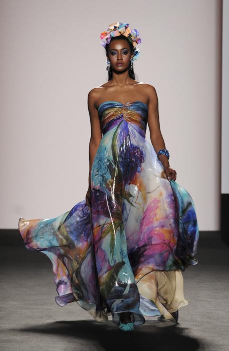 Renato Balestra abito multicolore