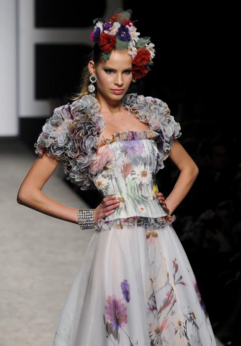 Renato Balestra abito a fiori