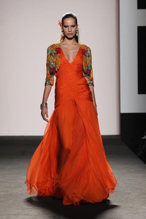 Renato Balestra abito arancio