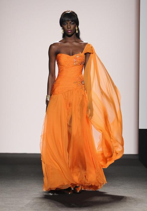 Renato Balestra abito mandarino