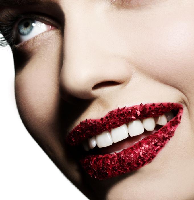 Labbra con brillantini