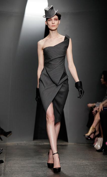 Donna Karan - abito monospalla grigio