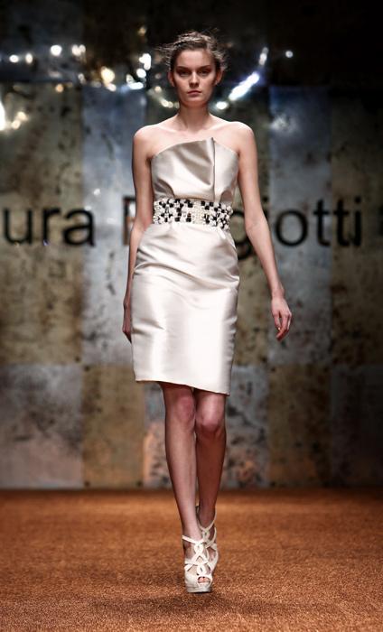 Laura Biagiotti 2012 Mini Abito Bianco