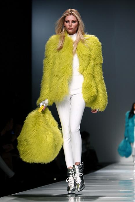 Blumarine 2012 2013 - maxi pelliccia giallo