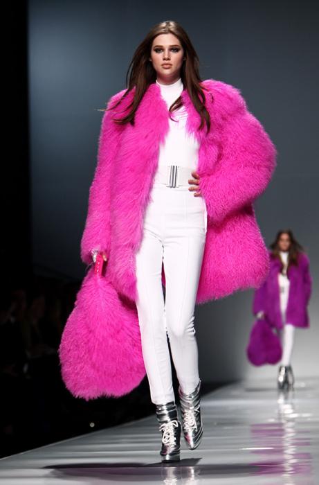 Blumarine 2012 2013 - maxi pelliccia rosa
