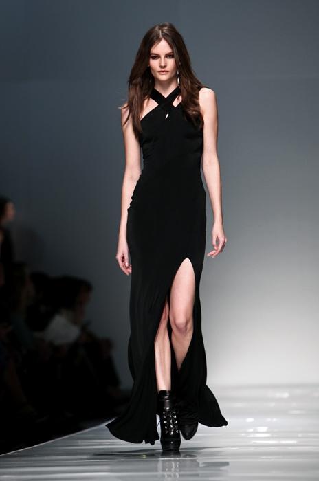 Blumarine 2012 2013 - abito lungo nero