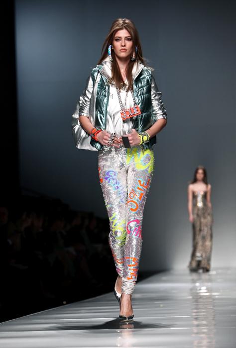 Blumarine 2012 2013 - giacca verde metallizzato