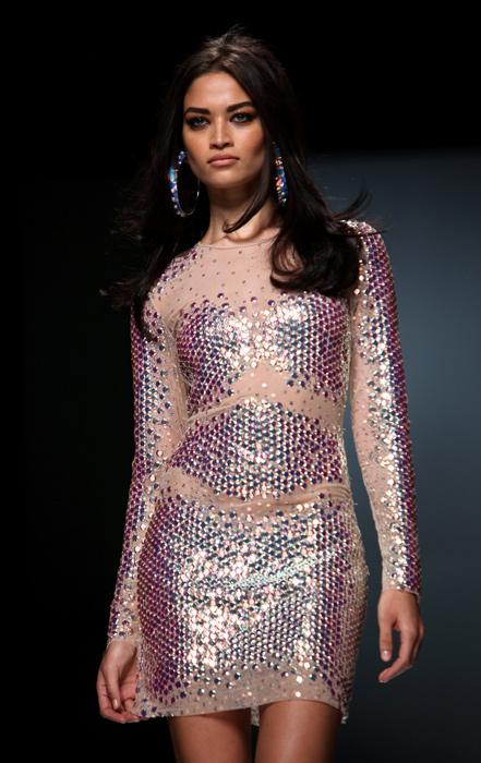 Blumarine 2012 2013 - mini abito con paillettes
