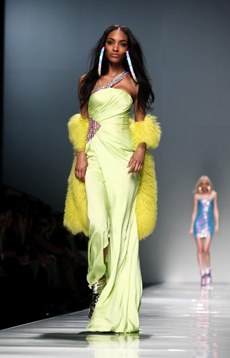 Blumarine 2012 2013 - abito con pelliccia