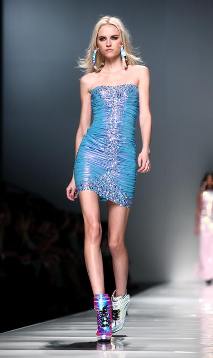 Blumarine 2012 2013 - mini abito blu