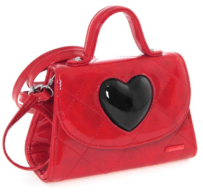 Camomilla Kelly Bag - borsa rossa con cuore nero