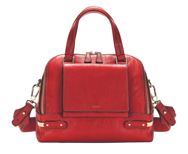 Furla - borsa rossa con manico