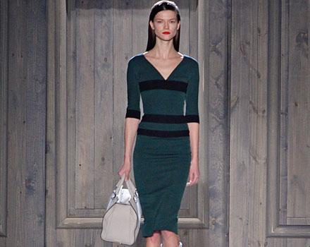 Victoria Beckham - abito stretch verde