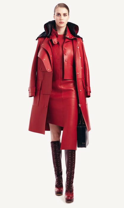 Bally 2012 2013 - vestito in pelle rosso