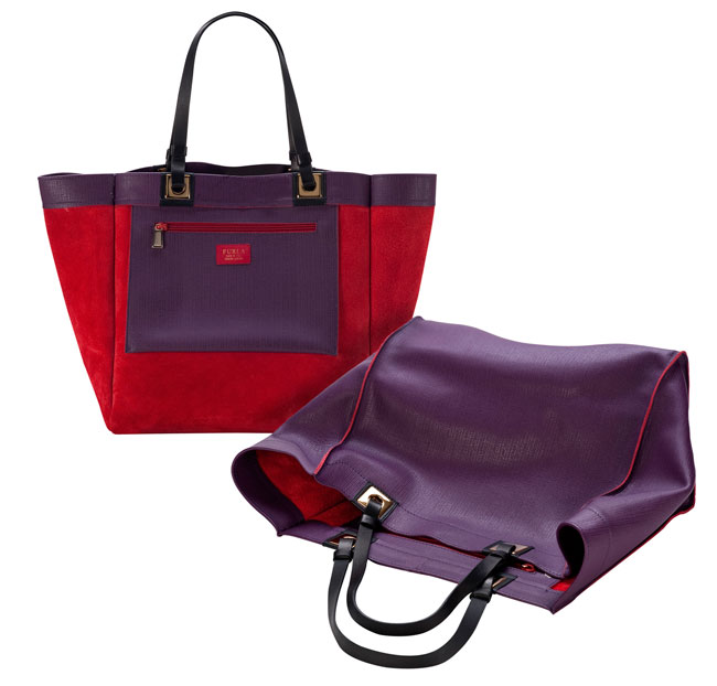 Furla 2012 2013  borsa viola e rossa