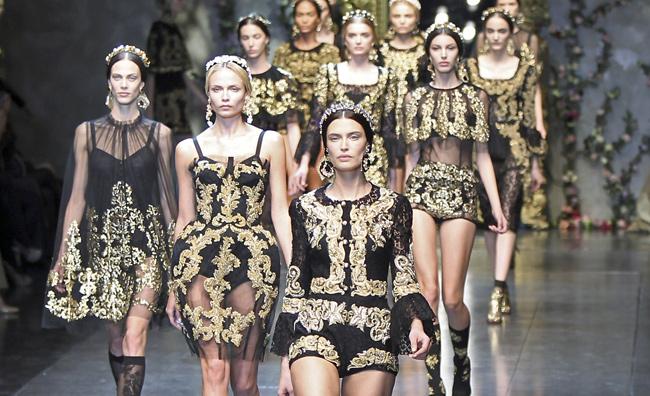 Romanticismo barocco da Dolce&Gabbana