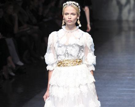 Dolce & Gabbana 2012 Abito Corto Bianco