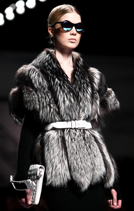Alberta Ferretti 2012 2013 Pelliccia Cintura In Vita
