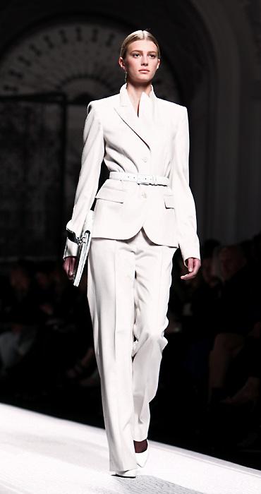 Alberta Ferretti 2012 2013 Completo Pantaloni Bianco