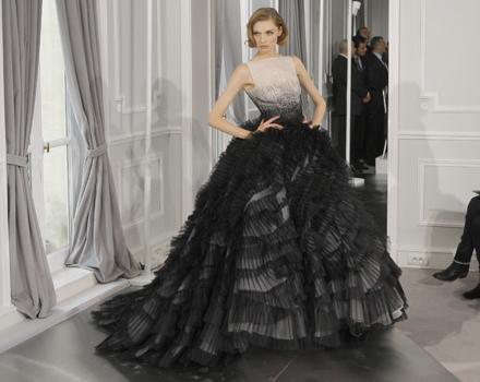 Dior Couture abito da sera con volant