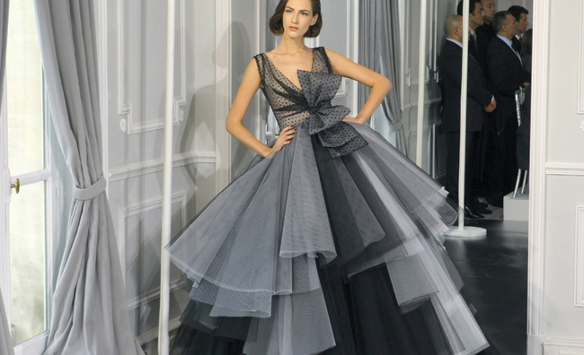 Dior Couture abito a balze