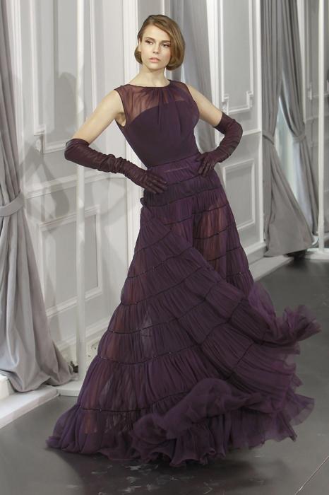 Dior Couture abito da sera viola