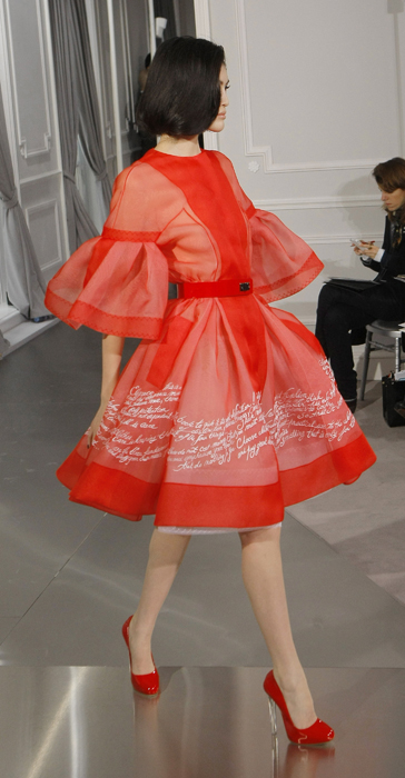 Dior Couture new look rosso