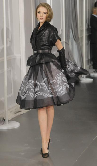 Dior Couture abito new look nero