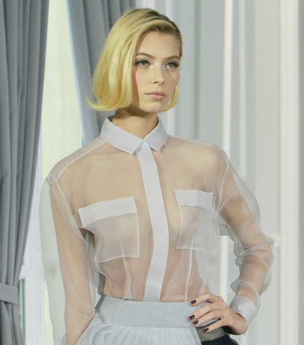 Dior Couture camicia trasparente