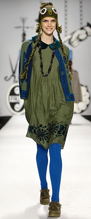Anna Sui - calze blu