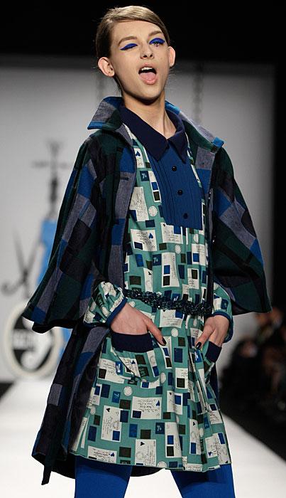 Anna Sui - abito con fantasia geometrica