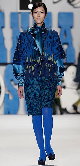 Anna Sui - maglia e gonna blu
