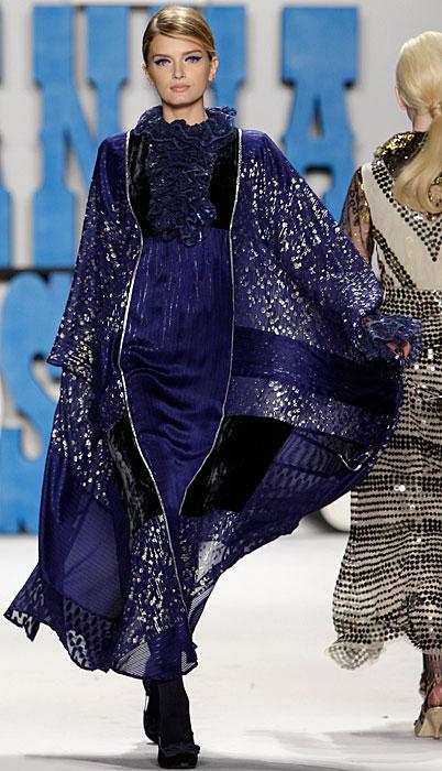 Anna Sui - abito lungo viola