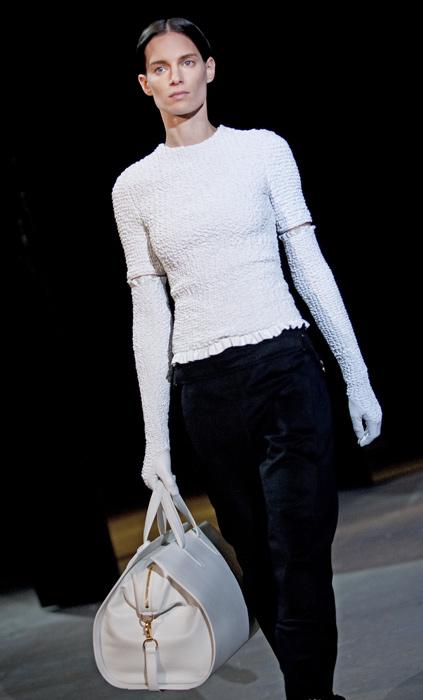 Alexander Wang - maglia bianca borsa a mano
