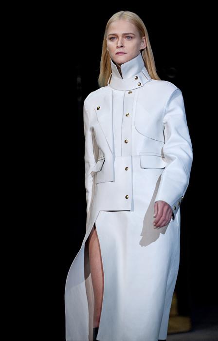 Alexander Wang - cappotto bianco a collo alto
