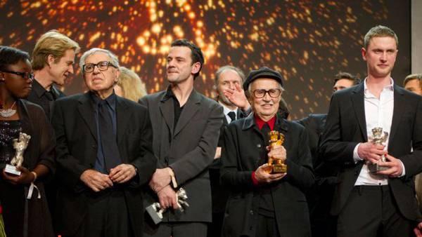Festival di Berlino 2012 - Rachel Mwanza, Paolo Taviani, Christian Petzhold, Vittorio Taviani e Mikkel Boe Folsgaard