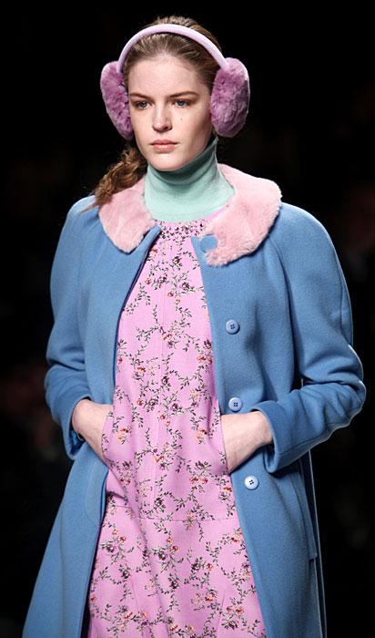 Blugirl 2012 Cappotto Blu e Abito Rosa