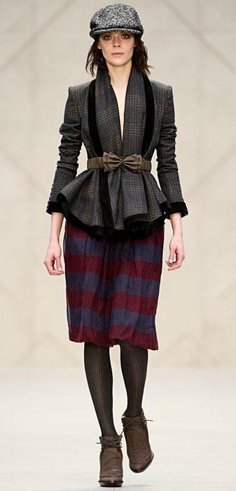 Burberry -giacca grigia e nera