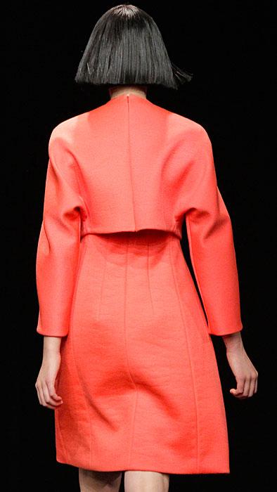 Calvin Klein - abito rosso con giacchetta