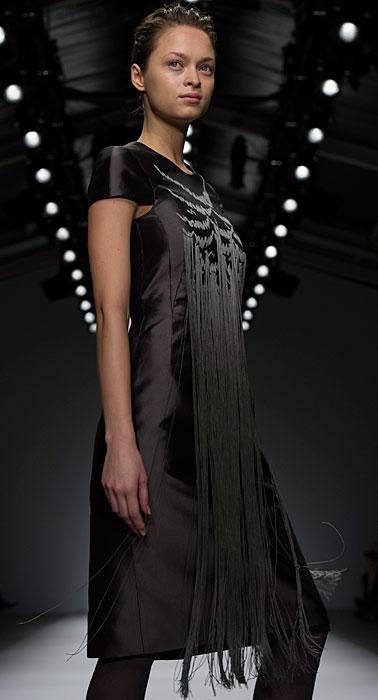 Jasper Conran - abito nero con frange