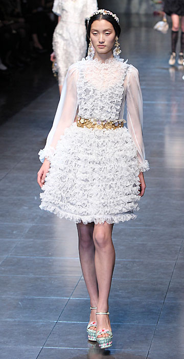 Dolce & Gabbana 2012 Abito Bianco