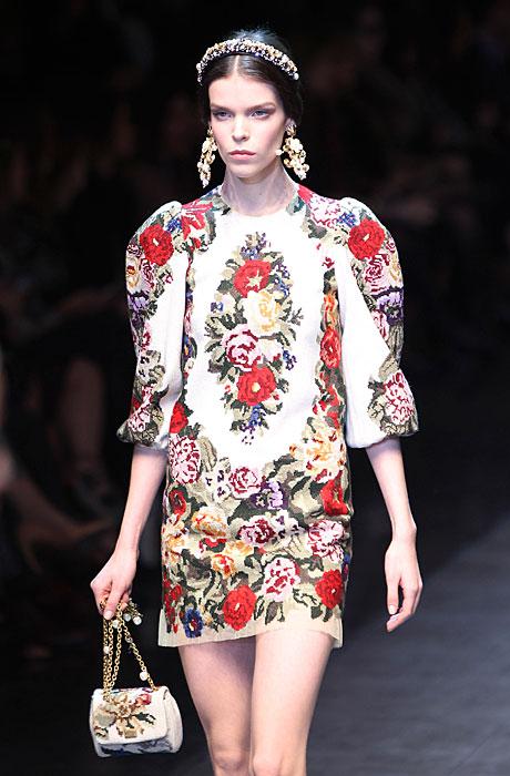 Dolce & Gabbana 2012 Abito Corto a Fiori