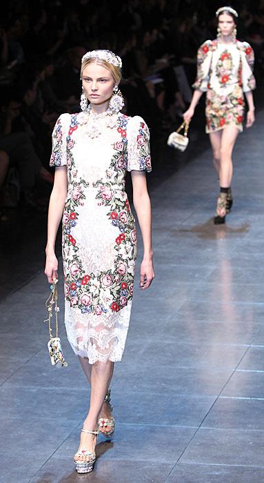 Dolce & Gabbana 2012 Abito a Fiori