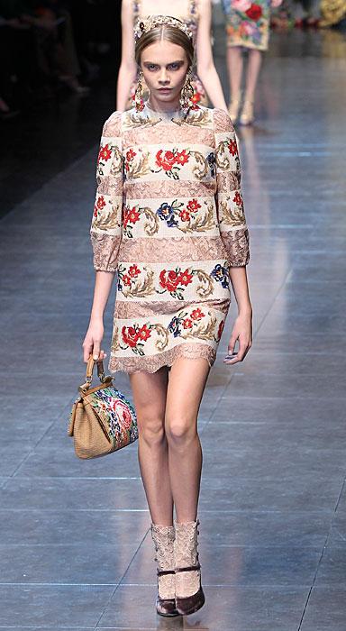 Dolce & Gabbana 2012 Abito a Fiori e Borsa
