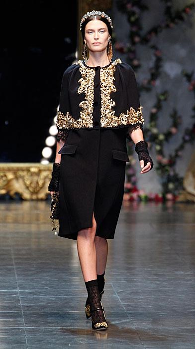 Dolce & Gabbana 2012 Abito Nero Ricamato