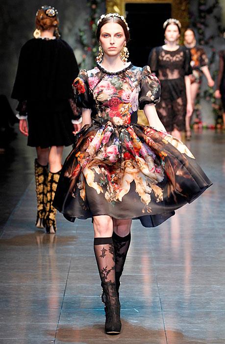 Dolce & Gabbana 2012 Vestito e Scarpe Nere