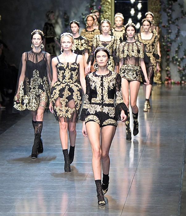 Dolce & Gabbana 2012 Chiusura Sfilata