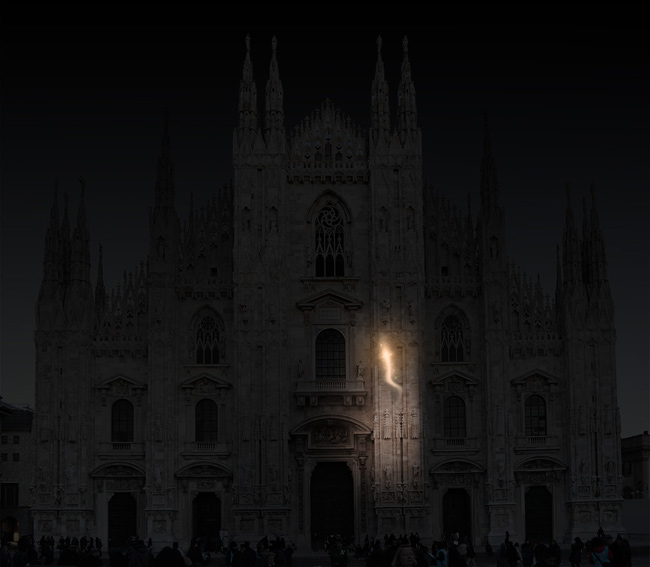 Duomo Milano proiezione 3d