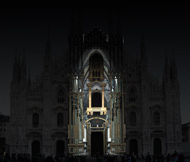 Duomo Milano proiezione