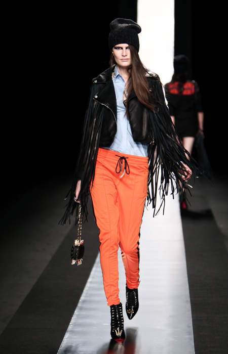 Frankie Morello 2012 2013 Giacca Frange Pantaloni Arancio